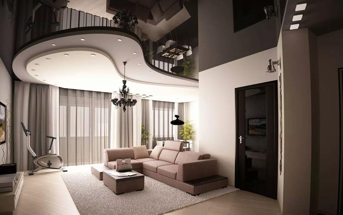 Дизайны натяжных потолков студия